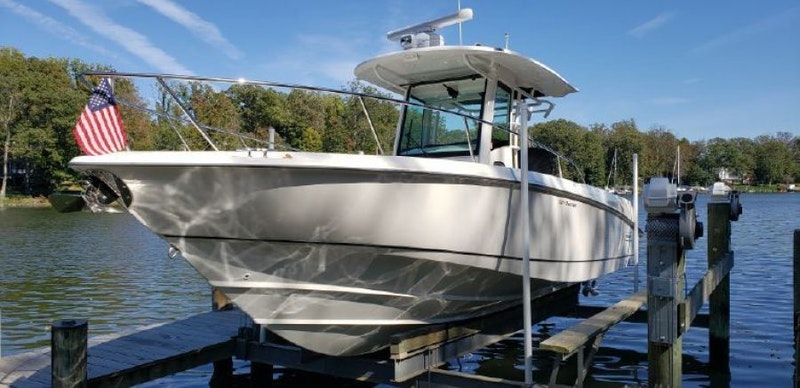 Boston Whaler-320 Outrage 2015-FLIP in FLOPS Annapolis-Maryland-United States-1586079-featured